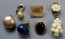 6 ältere einzelne Ohrringe Gehänge Modeschmuck 900er 835er Silber old earrings