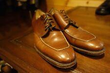 Ferragamo Stunning Brown Pebble Grain Lace Up Oxford Dress Shoe 10 D Italy