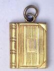 Antique Vintage 10k Yellow Gold Book Locket Pendant Charm Fob #Z204