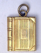 Antique Vintage 10k Yellow Gold Book Locket Pendant Charm Fob #Z204