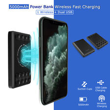 5000mAh Qi Wireless Power Bank Charging External Battery Pack Portable Charger