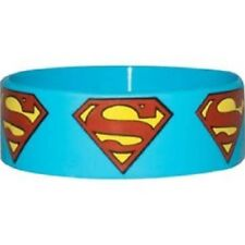 10 x Superman Rubber Wristbands,  party bag filler, Individually carded