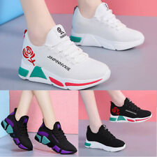 Women's Sports Running Gym Athletic Sneakers Walking Casual Platform Flat Shoes