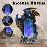 Dragon LED Incense Burner Smoke Backflow Censer Cone Holder Home Office Decor