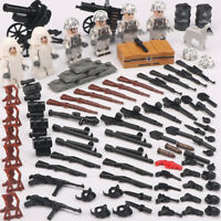 6pcs Military German Soldier Figures Building Blocks with WW2 Weapons Toys Brick