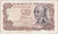 ESPAÑA: 100 PESETAS FRANCO (MANUEL DE FALLA). AÑO 1970. CON SERIE. BC+. IDEAL.