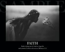FAITH Inspirational Picture (8X10) New Fine Art Print Photo Bible Jesus Decor