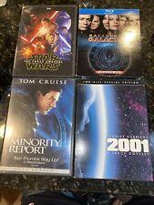 Sci-fi Dvd & Blu-ray lot(4) force awakens, Minority Report, 2001, Galactica