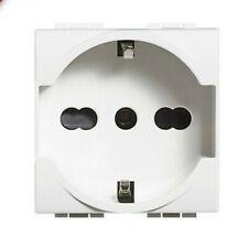 BTICINO LIVING LIGHT bianco presa schuko bipasso P30 10/16A N4140/16 ORIGINALE