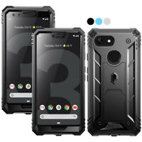 Google Pixel 3 XL / Pixel 3 Case,Poetic Rugged Shockproof Cover w/Kick-stand