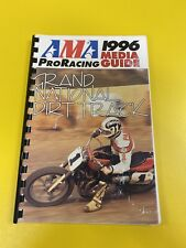 AMA Pro Racing 1996 Grand National Dirt Track Media Guide Aldana Agostini Mamola