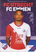 Programme / Programma FC Utrecht v FC Emmen 16-09-2018