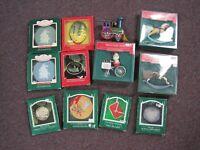Hallmark Ornaments 1980's Lot of 12 ~ Christmas ~ Holiday