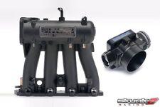 SKUNK2 Intake Manifold Pro Black+Throttle Body 70mm 88-00 Honda Civic D15/D16