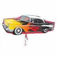 CLASSIC 50'S ROCK N ROLL ROCKING CAR SUPERSHAPE HELIUM QUALITY FOIL BALLOON