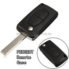 FOR PEUGEOT 207 307 308 2 BUTTON REMOTE FLIP KEY FOB CASE SHELL NEW UNCUT BLADE