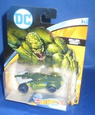 DC UNIVERSE MARVEL COLLECTOR HOT WHEELS KILLER CROC CHARACTER CARS, NEW