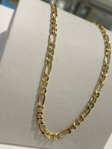 585 GOLD Kette Figarokette 10,6gramm,60cm,Halskette,neu+Etikett.Gelbgold