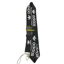Adidas Lanyard Detachable Keychain iPod Camera Strap Badge ID AdiBlack