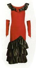 Spanierin Tangotänzerin Tänzerin Kostüm Gr. M Fasching Karneval rot/schwarz neu