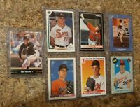 (7) Mike Mussina 1991 Leaf Upper Bowman Classic Score Rookie card lot RC HOF