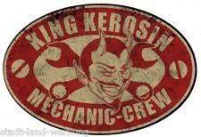 152 King Kerosin Mechanic Crew Aufkleber/Rockabilly/Motorrad/Bobber/US Car/Retro
