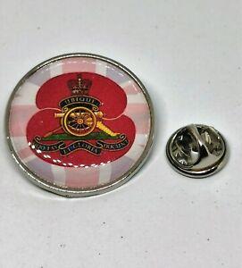 Royal Artillery Poppy Military lapel  Badge / Key Ring  / Fridge Magnet