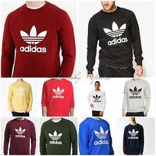 Adidas Original Men's Trefoil SWEATSHIRT Fleece Crew Neck Jumper Shirt S M L XL