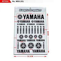 YAMAHA Badge Sticker Vinyl Decals Sheet Motocross Window Car Helmet Decor Black