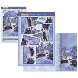 New Hunkydory Winter Wonderland Christmas Deco Large Decoupage Card Kit