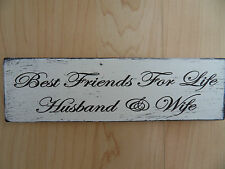 Shabby Husband & Wife plaque, chic and unique