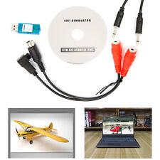 USB Flight Simulator Cable Adaptor for Spektrum DX5e Dx6i DX7 JR Futaba
