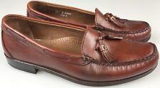 Allen Edmonds *Naples* Chili Brown Tassel Leather Loafer Shoes Sz 11 D EUC !