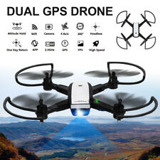 Dual GPS Wireless WiFi RC Quadcopter Camera Drone 2.4ghz 4ch HD 5mp VR Flyer UK