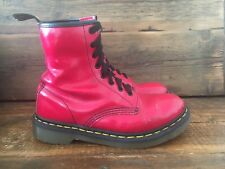 DR MARTENS LADIES ORIGINAL QUALITY AIR WAIR RED LEATHER SIZE 4 STYLE 1460
