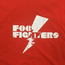 Foo Fighters Red Short Sleeve Concert Band T Shirt Sz Medium 2007