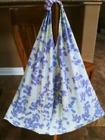 Handmade Origami Bag, Tote Bag Purple Floral on White XTR Large SHIPS FREE!