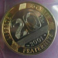 20 Francs Saint Michel 2001 : BU : pièce de monnaie Française N5