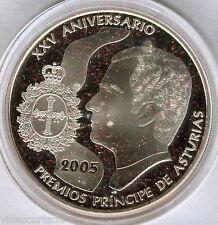10 Euros 2005 25 Aniv. Premios Principe de Asturias F.N.M.T. plata Proof