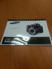 SAMSUNG NX20 20.3mp NX SMART CAMERA 188p  FULLY PRINTED INSTRUCTION MANUAL GUIDE