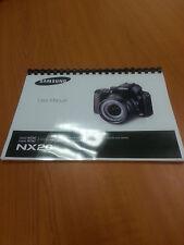SAMSUNG NX20 20.3mp NX SMART CAMERA 188p  FULLY PRINTED INSTRUCTION MANUAL GUIDE