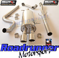 Milltek DS3 1.6 16V DSport Racing Stainless Exhaust System Non Res & De Cat Pipe