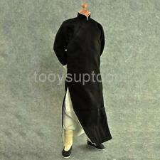 "1/6 Long Sleeve Black Chinese-style Costume Bruce Lee Kung Fu Suit 12"" Body"
