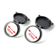 42mm&47mm Rifle Scope Protector Cover Flip Up Quick Spring Telescopic Lens Cap