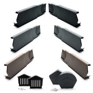 Manthorpe Dry Verge - Left & Right Hand Tile End Cap, Eaves Closure & Ridge Caps