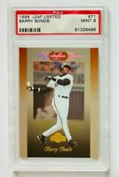 1996 Donruss Leaf Limited Barry Bonds Card #71, PSA 9 Mint, SF Giants Legend!