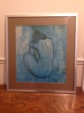 Large Vintage Picasso Blue Nude Exhibition Mounted Aluminium Frame Blue Period