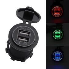 5v 2.1a DUAL CASGADOS USB ENTSADA Adaptador para 12v 24v MOTO COCHE BF