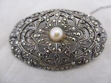 Silver Marcasite Brooch/Pin Vintage Fine Jewellery