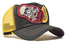 VON van DUTCH MESH TRUCKER CAP [2 PATCH SKULL BLACK/YELLOW] HUT MÜTZE BASECAP BA